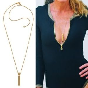 NEW India Hicks 18K Gold PLAYER necklace